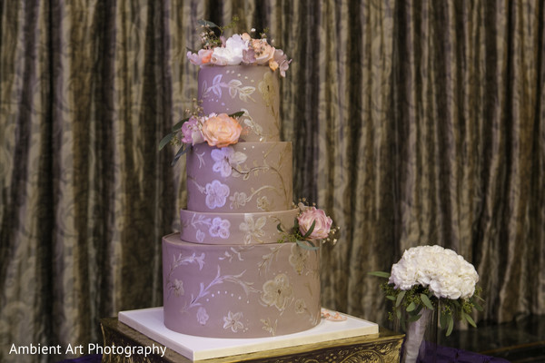 Wedding Cake in Fresno, CA South Asian Wedding by Ambient Art Photography