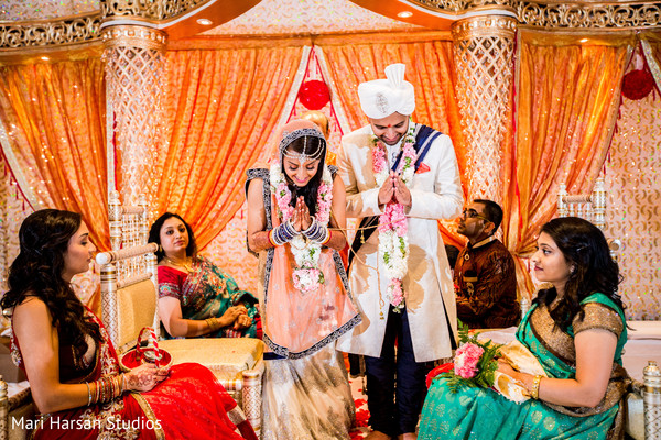 Ceremony in Arlington, VA Indian Wedding by Mari Harsan Studios