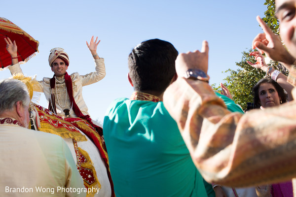 Baraat in Yorba Linda, CA Indian Wedding by Brandon Wong Photography