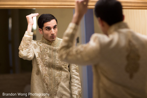 getting ready,sherwani