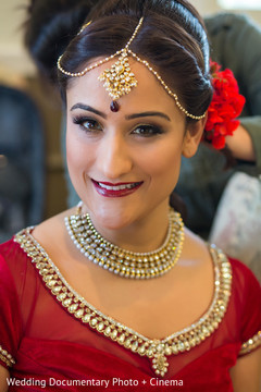 indian bride getting ready,indian bridal hair and makeup,indian wedding makeup