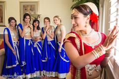 indian bride getting ready,indian bridesmaids,indian bridal party
