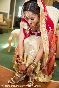 indian bride getting ready,indian bridal hair and makeup,indian wedding makeup,indian weddings,indian wedding shoes