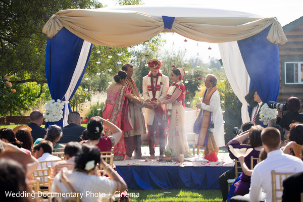 outdoor ceremony,ceremony,indian fusion wedding,indian fusion ceremony,mandap,outdoor mandap