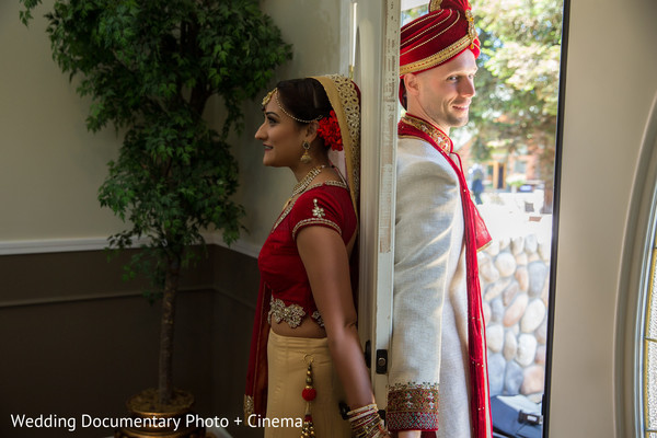 First Look Portraits in Livermore, CA Indian Fusion Wedding by Wedding Documentary Photo + Cinema