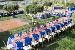 The reception takes place inside a tent!