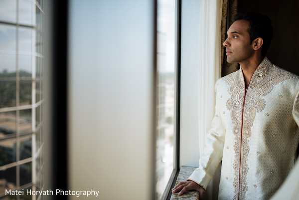 Groom Getting Ready in Dallas, TX Indian Wedding by Matei Horvath Photography