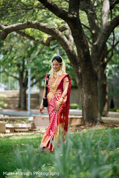 Bridal Sari in Dallas, TX Indian Wedding by Matei Horvath Photography