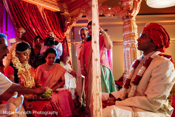 Ceremony in Dallas, TX Indian Wedding by Matei Horvath Photography