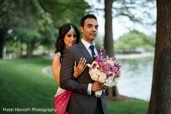 Reception Portrait in Dallas, TX Indian Wedding by Matei Horvath Photography