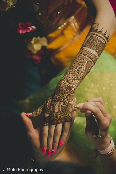 Mehndi in Punta Cana, Dominican Republic Indian Destination Wedding by Z Molu Photography