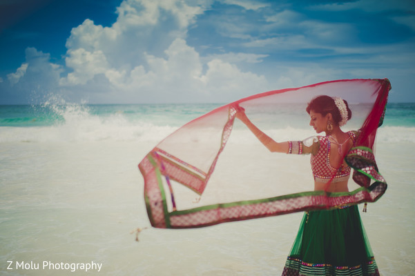 Pre-Wedding Portrait in Punta Cana, Dominican Republic Indian Destination Wedding by Z Molu Photography