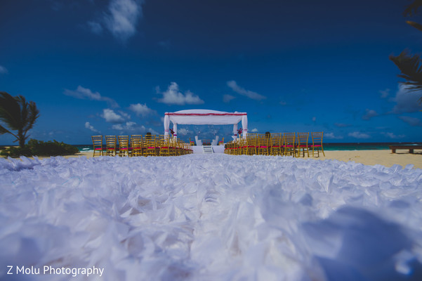 Ceremony Venue in Punta Cana, Dominican Republic Indian Destination Wedding by Z Molu Photography