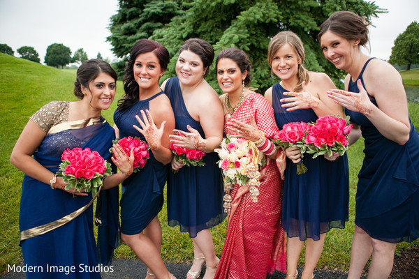 Portraits in Oak Brook, IL Indian Fusion Wedding by Modern Image Studios