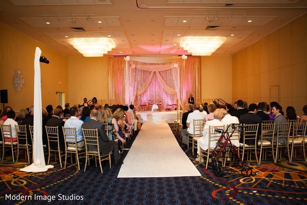 Ceremony in Oak Brook, IL Indian Fusion Wedding by Modern Image Studios