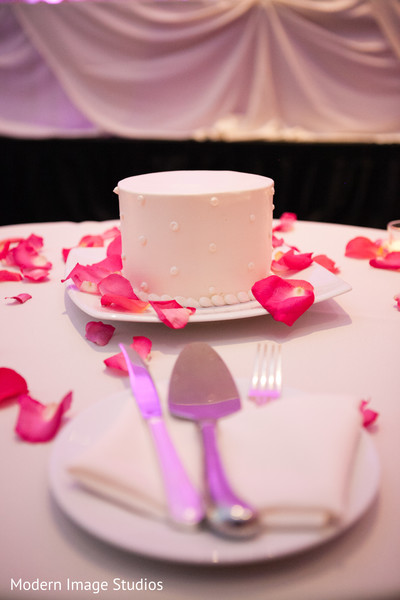 Wedding Cake in Oak Brook, IL Indian Fusion Wedding by Modern Image Studios