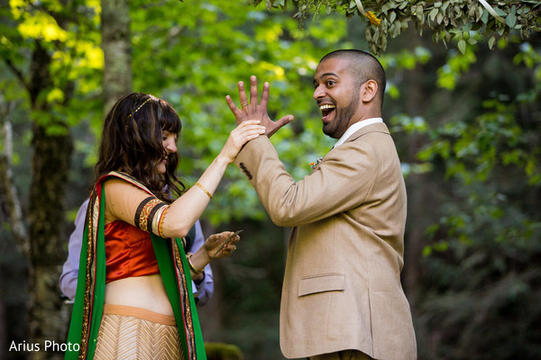 Ceremony in Big Indian, NY Indian Fusion Wedding by Arius Photo
