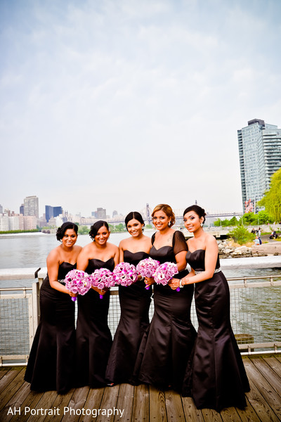 Outdoor Portraits in Richmond Hill, NY Indian Wedding by AH Portrait Photography