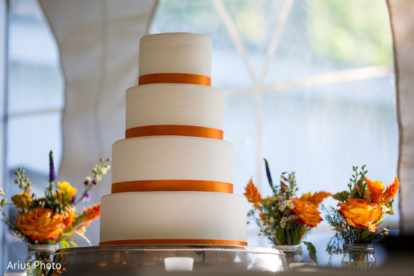 Wedding Cake in Big Indian, NY Indian Fusion Wedding by Arius Photo
