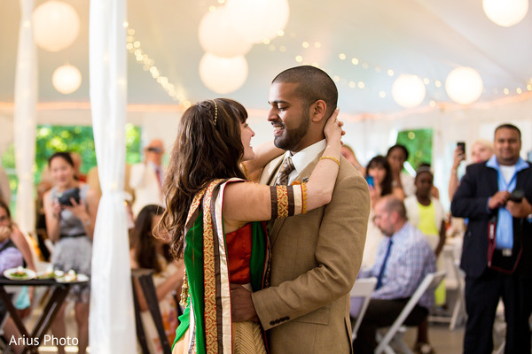 First Dance in Big Indian, NY Indian Fusion Wedding by Arius Photo