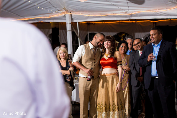 Reception in Big Indian, NY Indian Fusion Wedding by Arius Photo
