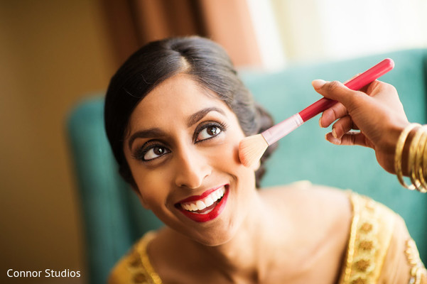 Getting Ready in Williamsburg, VA Indian Fusion Wedding by Connor Studios