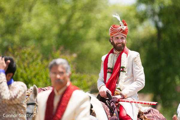 Baraat in Williamsburg, VA Indian Fusion Wedding by Connor Studios