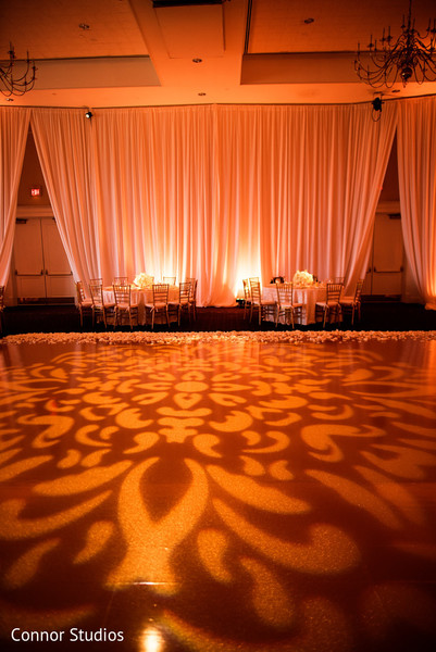 Lighting Detail in Williamsburg, VA Indian Fusion Wedding by Connor Studios