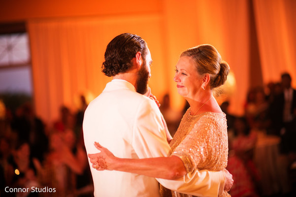 Reception in Williamsburg, VA Indian Fusion Wedding by Connor Studios