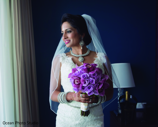 Getting Ready in Cancun, Mexico Destination Indian Fusion Wedding by Ocean Photo Studio