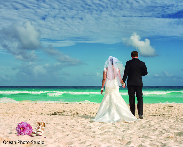 Destination Portraits in Cancun, Mexico Destination Indian Fusion Wedding by Ocean Photo Studio