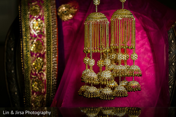 Bridal Jewelry in Long Beach, CA Indian Wedding by Lin & Jirsa Photography