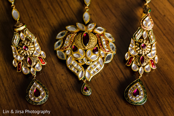 bridal jewelry,earrings,tikka,ruby