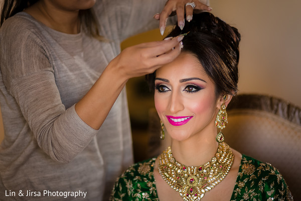 getting ready,hair and makeup,necklace,gold necklace,gold bridal set,earrings