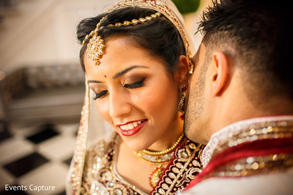 First Look in Aberdeen, NJ Indian Wedding by Events Capture