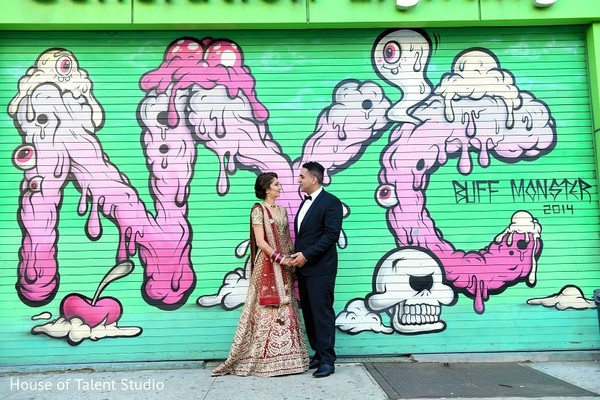 Reception Portrait in New York, NY Indian Wedding Reception by House of Talent Studio