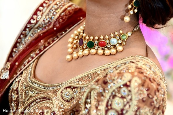 Bridal Jewelry in New York, NY Indian Wedding Reception by House of Talent Studio
