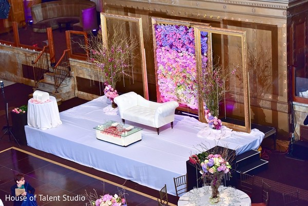 Floral & Decor in New York, NY Indian Wedding Reception by House of Talent Studio