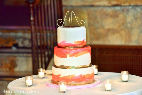 Wedding Cake in New York, NY Indian Wedding Reception by House of Talent Studio