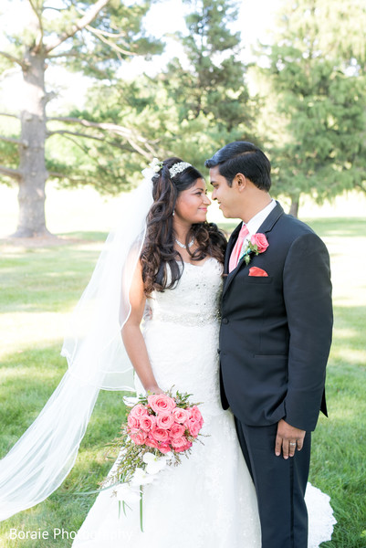 first look,first look portraits,bridal bouquet,white wedding dress,suit,outdoor portraits