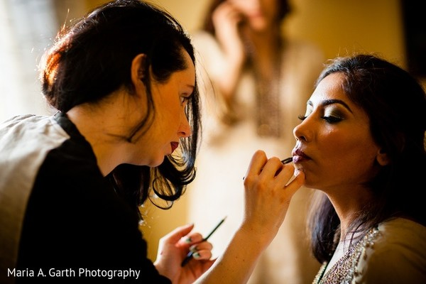 Getting Ready in Claymont, DE Pakistani Wedding by Maria A. Garth Photography