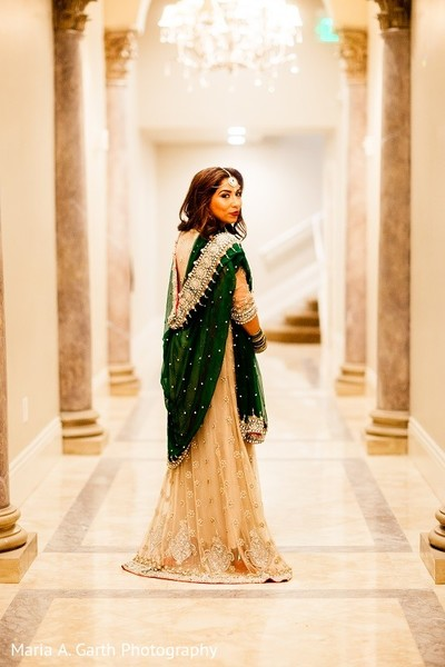 Reception Portrait in Claymont, DE Pakistani Wedding by Maria A. Garth Photography