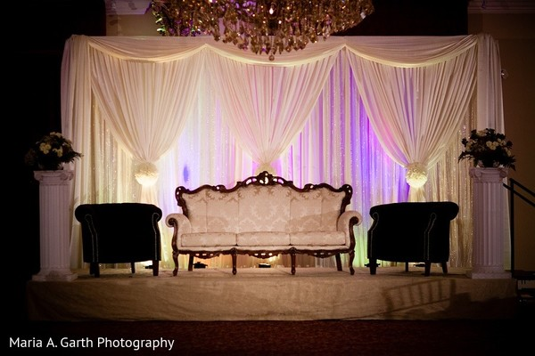 Wedding Stage in Claymont, DE Pakistani Wedding by Maria A. Garth Photography