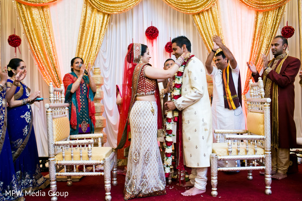 Ceremony in Parsippany, NJ Indian Wedding by MPW Media Group