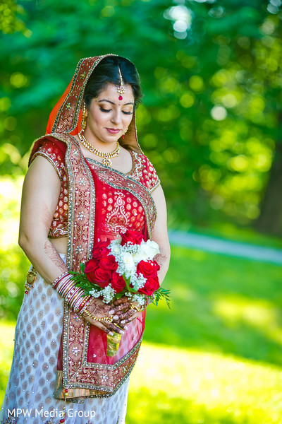 Outdoor Portraits in Parsippany, NJ Indian Wedding by MPW Media Group