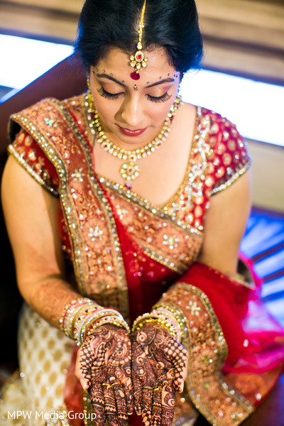 Getting Ready in Parsippany, NJ Indian Wedding by MPW Media Group