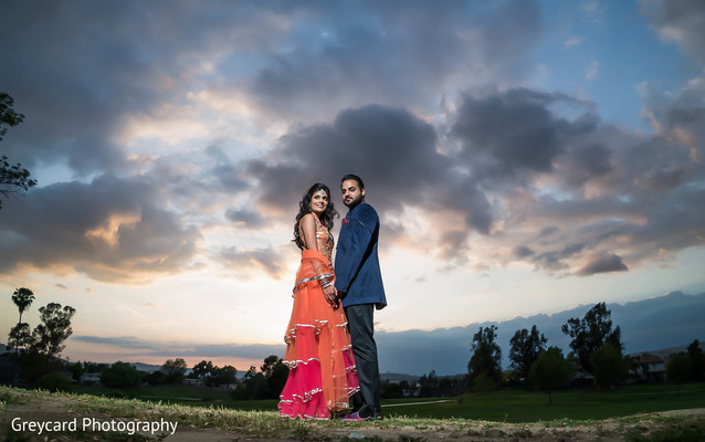 Pre-Wedding Portrait in Los Angeles, CA Sikh Wedding by Greycard Photography