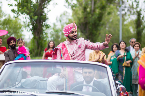 Baraat in Los Angeles, CA Sikh Wedding by Greycard Photography