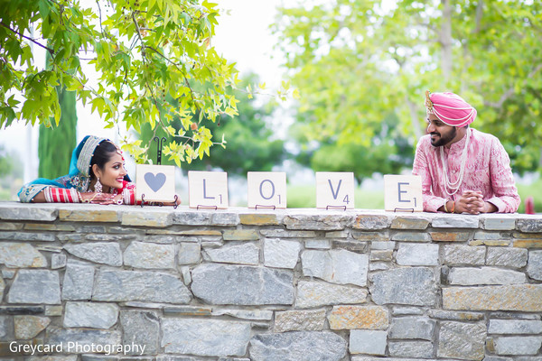 Wedding Portrait in Los Angeles, CA Sikh Wedding by Greycard Photography