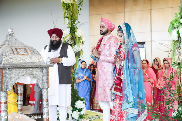 Ceremony in Los Angeles, CA Sikh Wedding by Greycard Photography